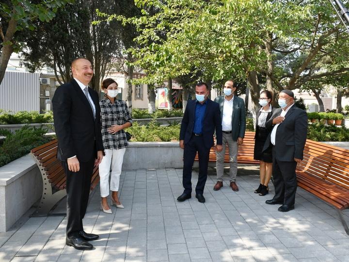 Ильхам Алиев ознакомился с работами по благоустройству в Балаханы - ФОТО