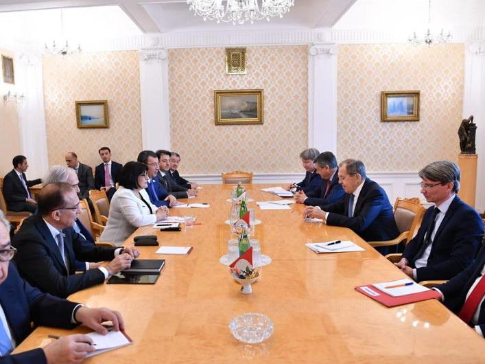 В Москве проходит встреча председателя Милли Меджлиса и главы МИД России