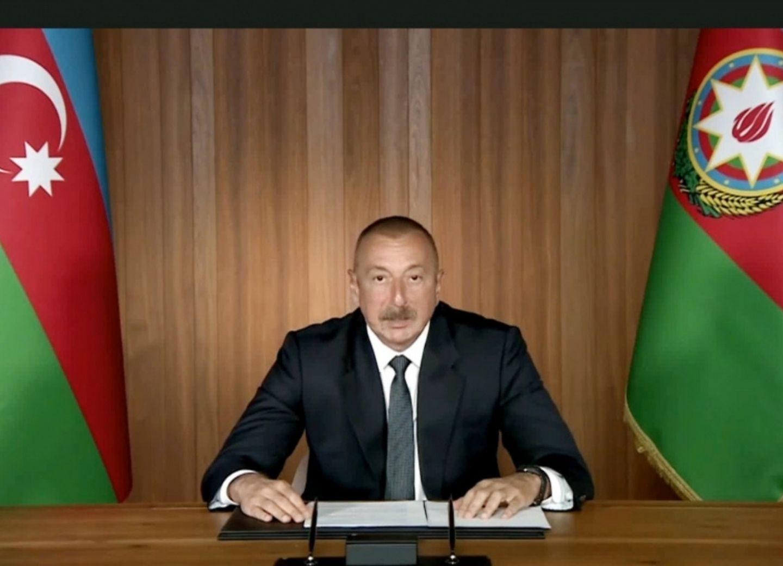 Президент Ильхам Алиев выступил на общих дебатах в видеоформате 75-й сессии Генеральной Ассамблеи ООН - ФОТО