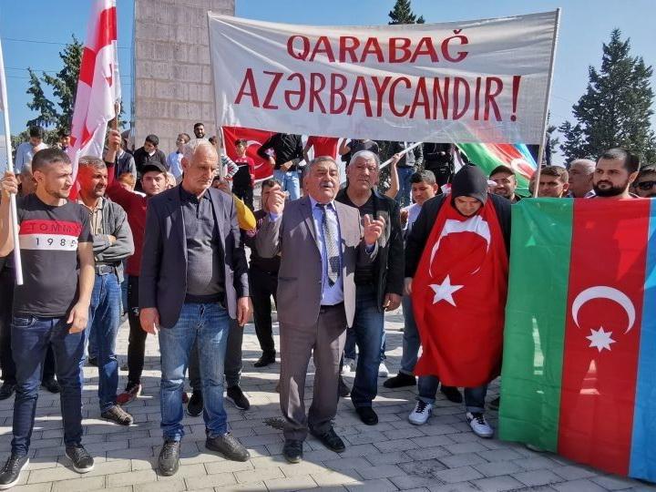 В Грузии прошел митинг-шествие под лозунгом «Карабах – Азербайджан!» - ФОТО