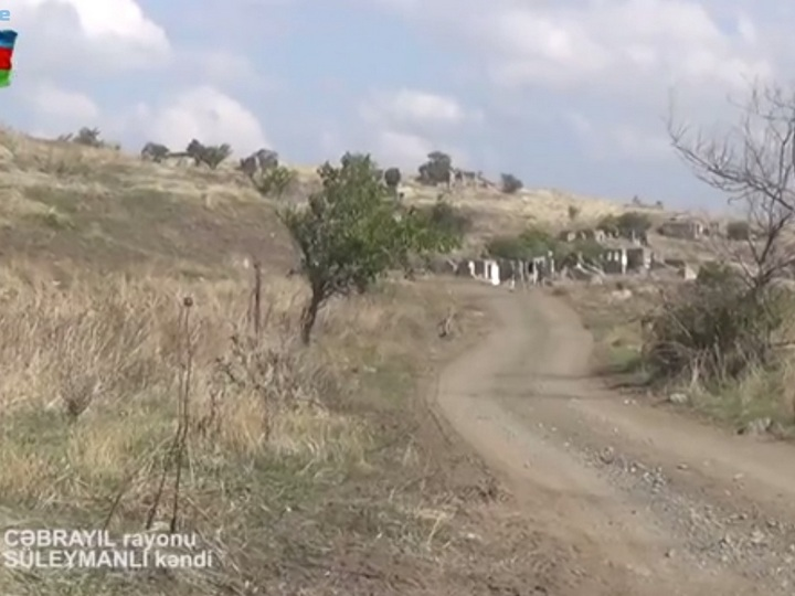 İşğaldan azad olunan Cəbrayılın Süleymanlı kəndinin görüntüləri - VİDEO