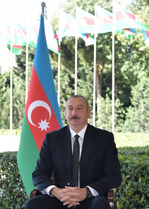 Ильхам Алиев дал интервью Haber Global - ФОТО