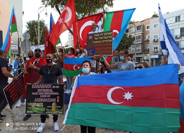 «Мы с тобой, Азербайджан!»: В Израиле прошел митинг против агрессии Армении – ФОТО
