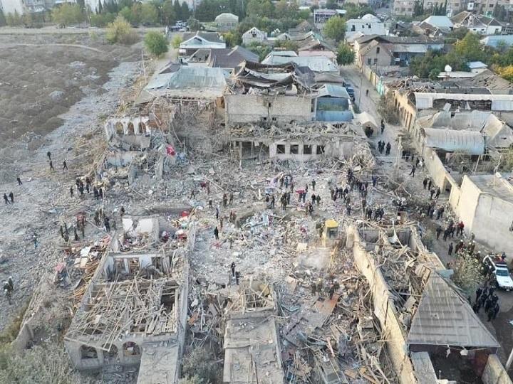 Генпрокуратура: Результатом ракетных обстрелов ВС Армении Гянджи стала гибель 26 мирных жителей