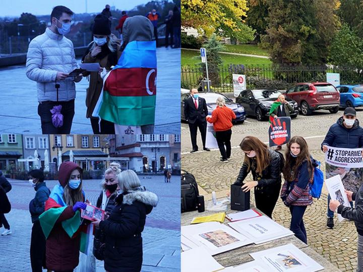 «Карабах – это Азербайджан!»: в Варшаве протестуют против агрессии Армении