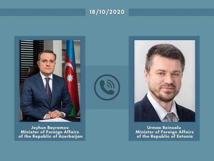 Состоялся телефонный разговор глав МИД Азербайджана и Эстонии