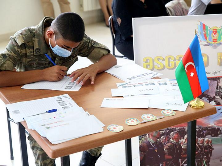 Армейский центр идеологии и культуры им. Ази Асланова принял участие в проекте «Письмо солдату» - ФОТО