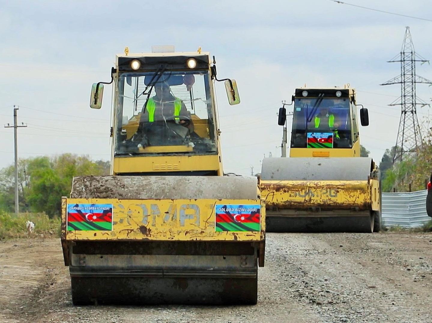 Начато восстановление дорог, ведущих в освобожденные от оккупации села Суговушан и Талыш – ФОТО