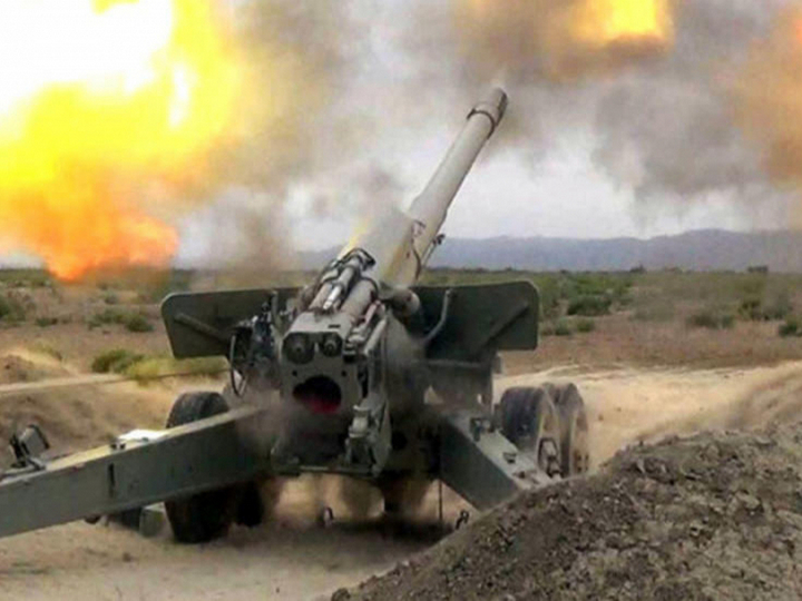 Müdafiə Nazirliyi: Artilleriyaçılarımız düşmənə dəqiq zərbələr endirməyə davam edir