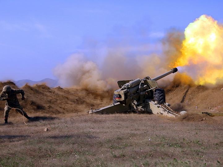 Азербайджанская артиллерия наносит точные удары по противнику – ВИДЕО