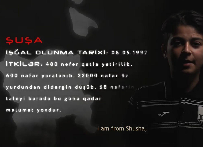 Хочу вернуться на Родину. ПФК «Нефтчи» подготовил видеоролик о детях из Карабаха - ВИДЕО