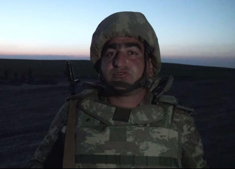 Азербайджанский военнослужащий: На всех оккупированных землях будет развеваться трехцветный флаг Азербайджана - ВИДЕО