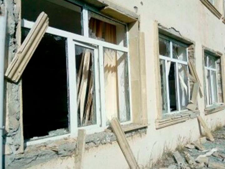 Армянские вооруженные силы обстреляли школу в Агдаме – ФОТО