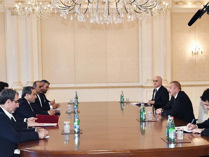 Президент Ильхам Алиев принял делегацию во главе со специальным представителем Президента Ирана - ФОТО