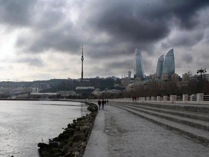 В четверг на Абшероне облачно, возможен дождь