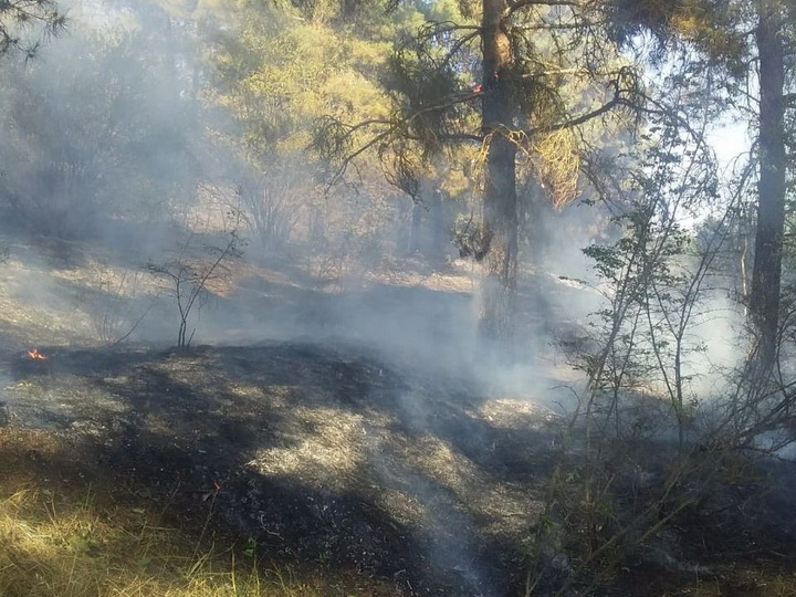 В Геранбое потушен пожар, вспыхнувший после артобстрела ВС Армении