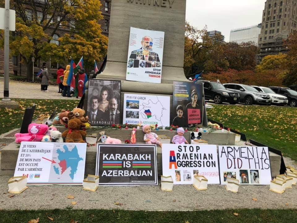 Азербайджанские женщины Торонто провели акцию солидарности - ФОТО
