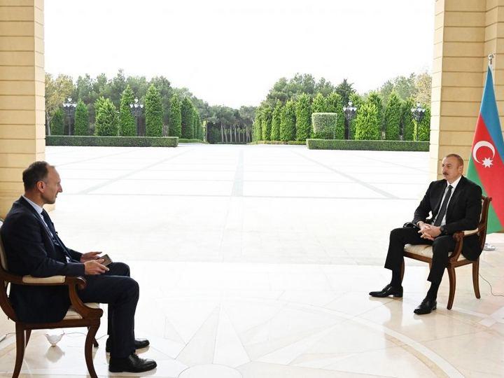 Prezident İlham Əliyev Almaniyanın ARD televiziya kanalına müsahibə verib - FOTO