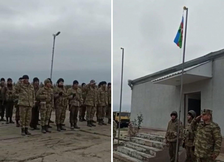 В селе Шелли, где прежде находилась армянская воинская часть, поднят флаг Азербайджана - ФОТО - ВИДЕО