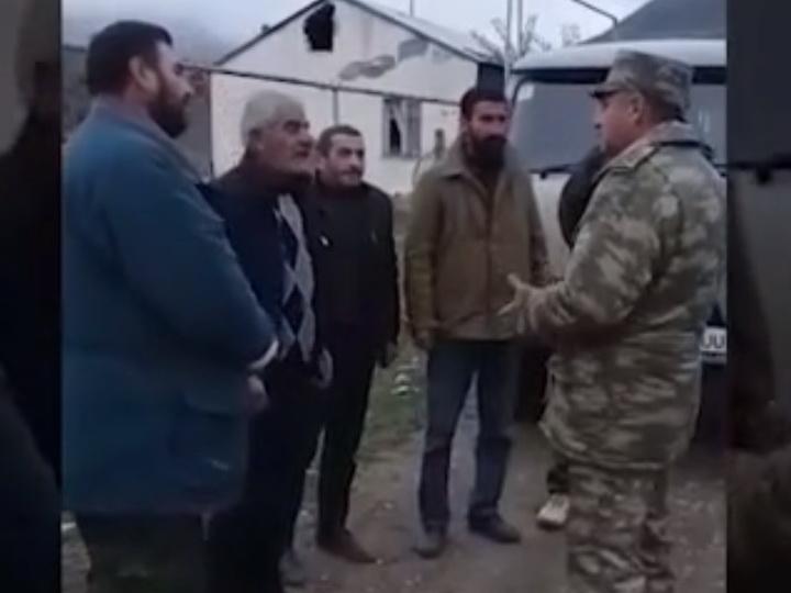 Армяне благодарят азербайджанского офицера за помощь и хорошее отношение – ВИДЕО