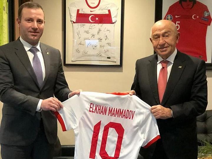 Эльхан Мамедов встретился с руководством Федерации футбола Турции