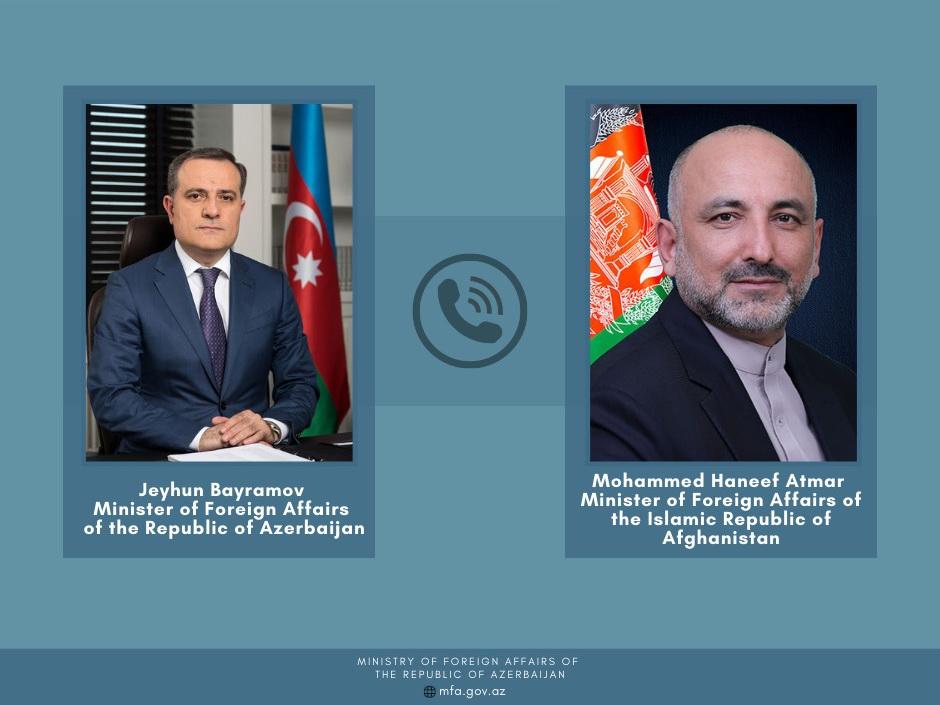 Состоялся телефонный разговор глав МИД Азербайджана и Афганистана