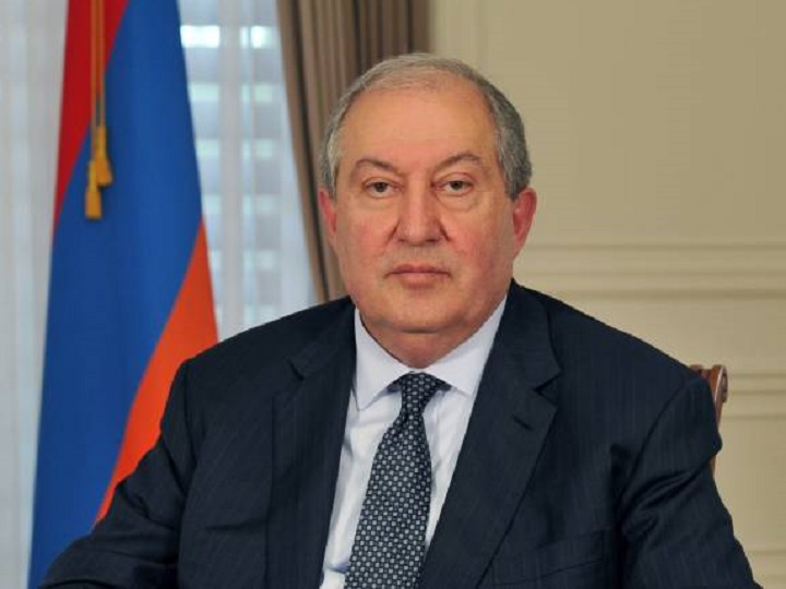 Ermənistan prezidenti Rusiyaya səfər edib