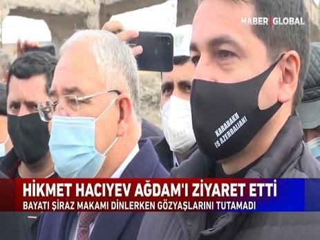 """""""Bayatı-Şiraz""""ı dinləyən Hikmət Hacıyev göz yaşlarına hakim ola bilmədi – VİDEO"""