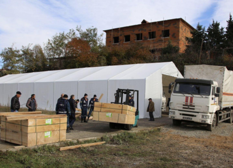МЧС РФ в Карабахе завершило обустройство лагеря для долговременного пребывания группировки