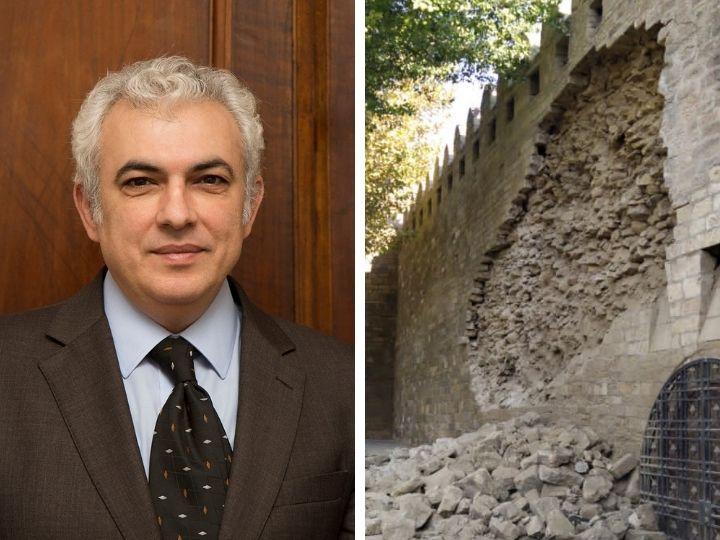 Эльчин Алиев об обрушении стены: «Мои предложения к руководству Ичеришехер игнорируются...» – ФОТО