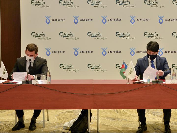 CarlsbergAzerbaijanvə AzərŞəkər şirkətləri əməkdaşlıq memorandumu imzalayıblar - FOTO