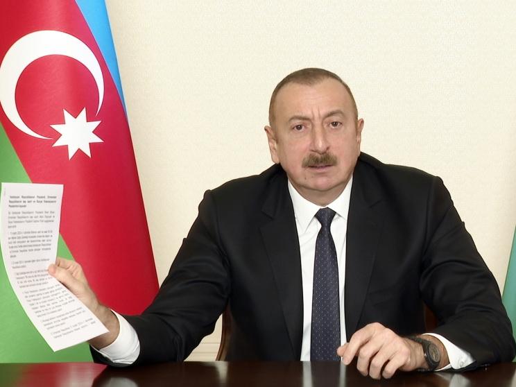 Ильхам Алиев внес ясность в Заявление по Карабаху