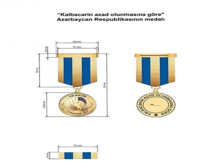 """""""Kəlbəcərin azad olunmasına görə"""" medalın əsasnaməsi təsdiqlənib"""