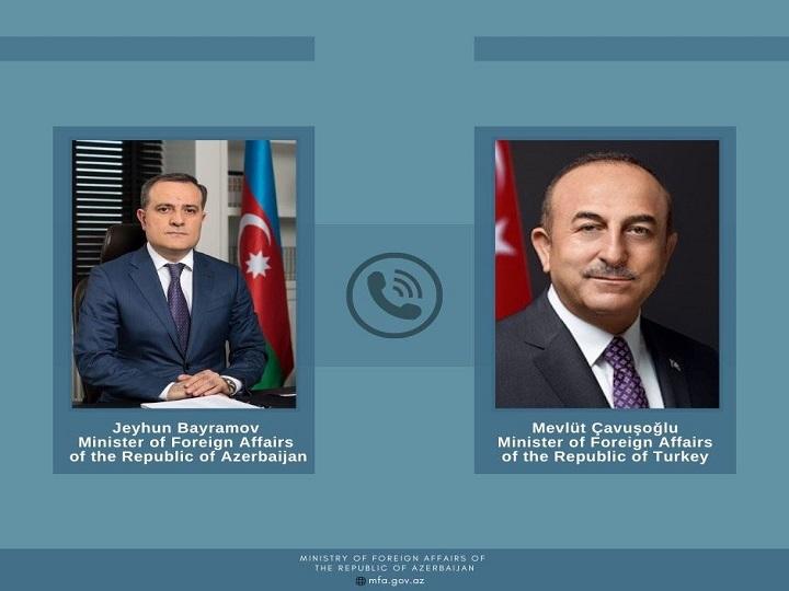 Azərbaycan və Türkiyə xarici işlər nazirlərinin telefon danışığı olub