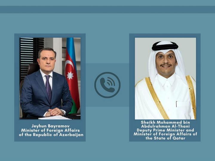 Состоялся телефонный разговор глав МИД Азербайджана и Катара