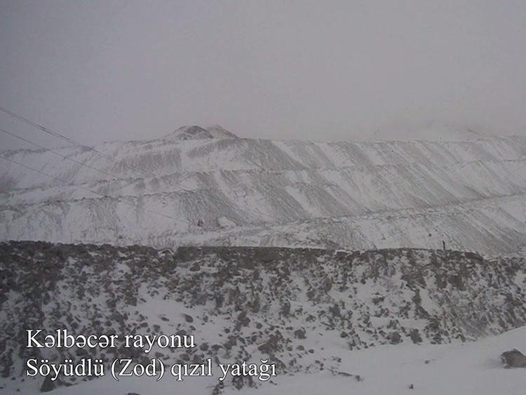 Кадры освобожденного от оккупации золоторудного месторождения Сеюдлю Кяльбаджарского района - ВИДЕО