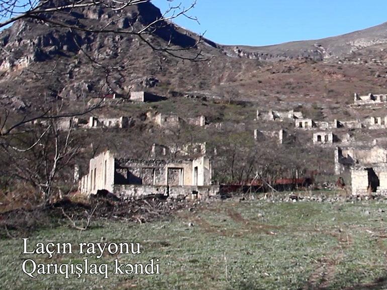 Видеокадры из села Гарыгышлаг Лачинского района - ВИДЕО