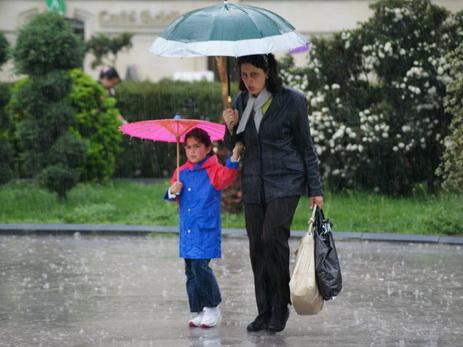 В пятницу на Абшероне дождь