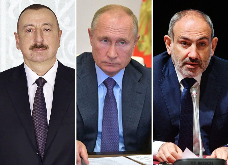 В Москве состоятся трехсторонние переговоры глав России, Азербайджана и Армении
