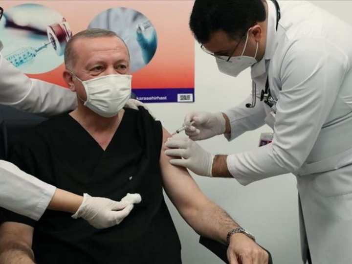 Эрдогану сделали прививку от коронавируса - ВИДЕО