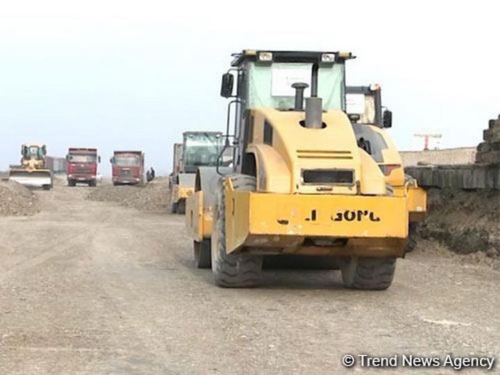 В Агдаме строится новая железная дорога – ВИДЕО