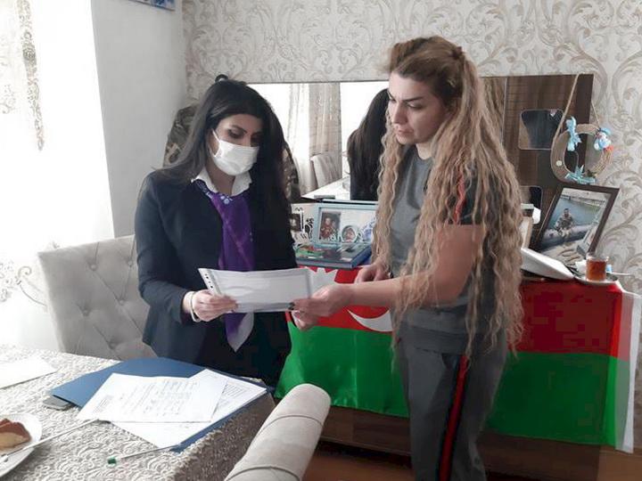 Условия проживания семей шехидов постоянно будут в центре внимания Агентства DOSТ − ФОТО