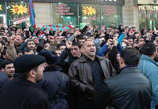 Азербайджанская диаспора провела акцию протеста перед консульством Ирана в Стамбуле