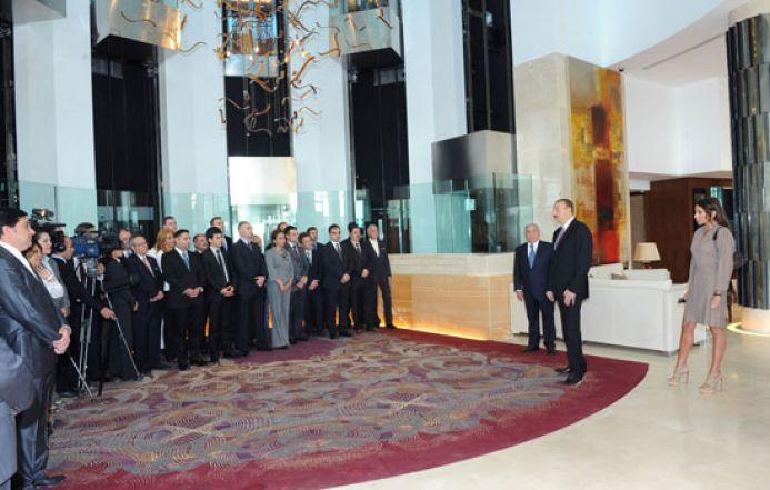 Ильхам Алиев: «После этого будут открыты еще 4 отеля, и это, конечно же, очень радует меня, как Президента»