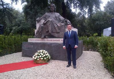 В Риме отрыт памятник Низами Гянджеви - ФОТО