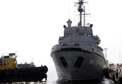 Корабли Каспийской флотилии ВМФ России прибыли в Баку - ФОТО