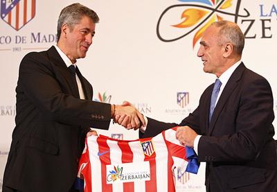 В Мадриде презентовали договор о сотрудничестве между «Атлетико» и Азербайджаном и показали форму Land of fire Azerbaijan - ФОТО - ОБНОВЛЕНО