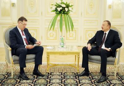 Ильхам Алиев принял премьер-министра Литвы - ФОТО