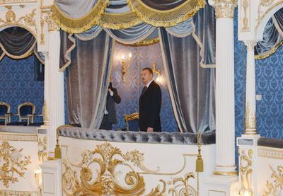 Ильхам Алиев принял участие в открытии Азербайджанского государственного музыкального театра - ФОТО
