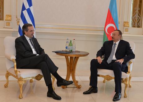 Ильхам Алиев встретился с премьер-министром Греции - ФОТО